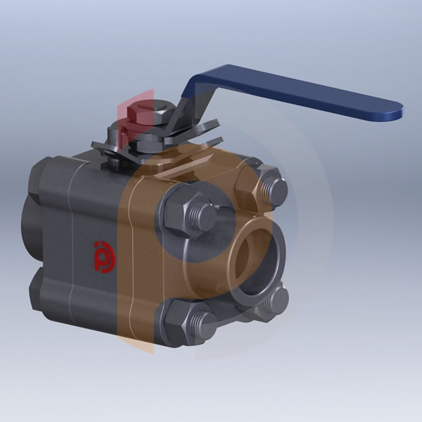 Three-piece Forged Steel Ball Valve